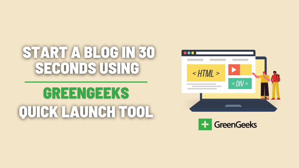 how to start a blog with greengeeks hosting